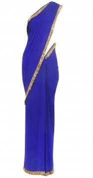Manish Malhotra  ll  cobalt blue sari