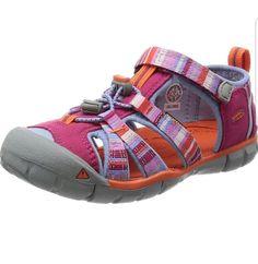 21df4e0e814a KEENSeacamp II CNX SandalGirls Kids Sz 2 Pink Striped Water Outdoor Shoes  (eBay Link)