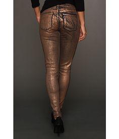 Black brown color foil printed jeans - Levi's® Juniors Legging w/ Foil Coating Black w/ Silver Foil - 6pm.com $24.99