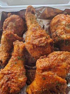 Best Fried Chicken Recipe, Baked Fried Chicken, Chicken Drumstick Recipes, Keto Chicken, Honey Chicken, Chicken Bacon, Butter Chicken, Garlic Butter, Chicken Soup