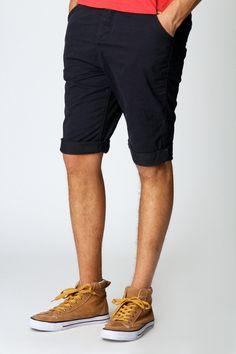 Chino Roll Up Shorts £15    www.boohoo.com