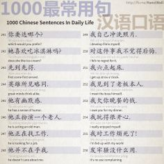 1000 Chinese Sentences In Daily Life - Part 16