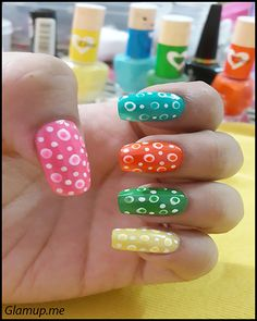 MULTI COLOR BUBBLE NAIL ART TUTORIAL STEP BY STEP