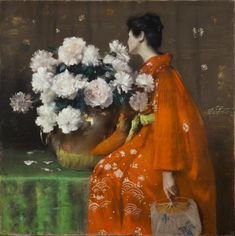 William Merritt Chase (1849–1916), Spring Flowers (Peonies), 1889. Pastel On Paper, Prepared With A Tan Ground, And Wrapped With Canvas Around A Wooden Strainer, 48 x 48 in. Terra Foundation for American Art, Daniel J. Terra Collection. © Terra Foundation for American Art.