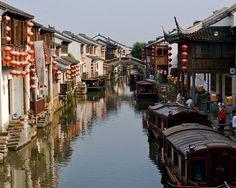 Suzhou canal lanterns