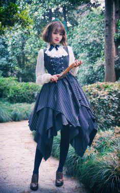 Surface Spell -The Rosary- Gothic Lolita Jumper Dress Harajuku Fashion, Kawaii Fashion, Lolita Fashion, Cute Fashion, Gothic Fashion, Alternative Mode, Alternative Fashion, Sunmer Dresses, Mode Lolita