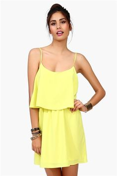 adorable lime dress with a #cutout on the back !! #neon Get 10% off http://www.studentrate.com/miami/get-miami-student-deals/Necessary-Clothing-Student-Discount--/0