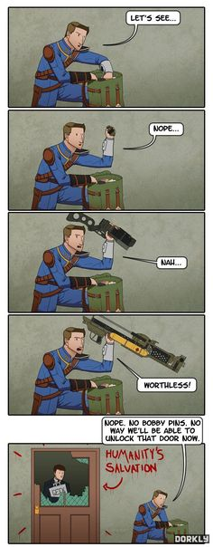 Like when you shoot a mini nuke and there's still things existing around it. #fallout
