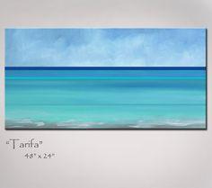Abstract Art Painting Beach Art Abstract by RedMoonStudioArt