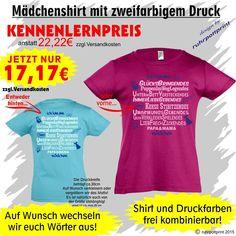 Cooles Kinder T-Shirt für Mädchen individuell gestaltbar