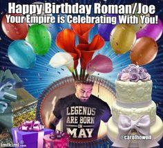 Embedded Happy Birthday Joe, 33rd Birthday, Birthday Cake, Best Wrestlers, Roman Reigns, Birthday Cakes, Cake Birthday