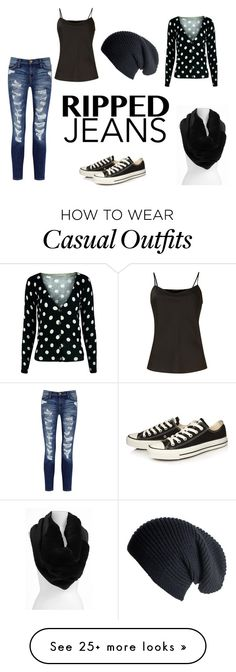 """Fall Casual outfit"" by erikah-bermudez on Polyvore featuring Current/Elliott, Lafayette 148 New York, Converse and Untold"