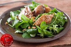 Salade de caille et terrine au foie de canard et aux châtaignes