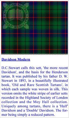 Clan Davidson (Davis) tartan