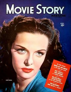 Jane Russell on the cover of Movie Story magazine, April 1946.