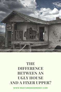 "Read about the differences between an ""ugly house"" and a fixer upper and my experience walking through a fixer upper and why I chose to walk away. Investing Money, Real Estate Investing, Money Tips, Money Saving Tips, Seed Money, Home Buying Tips, Finance Blog, Get Out Of Debt, Financial Tips"