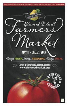Elmwood-Bidwell Farmers Market, Buffalo, NY