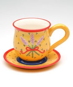 Another great find on #zulily! Lavender Sprig Cup & Saucer #zulilyfinds