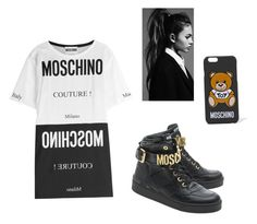 """I want to model for Moschino"" by kendraallen22 ❤ liked on Polyvore featuring Moschino"