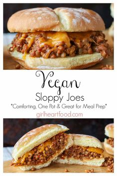 A twist on a classic, these Vegan Sloppy Joes will knock your socks off! Loaded with lentils, a soy based crumble and spices, this one pot comfort food meal will satisfy the hunger bug every time! recipe meals Best Vegan Sloppy Joes {made in 20 minutes} Vegan Keto, Vegan Foods, Vegan Dishes, Vegan Lunches, Raw Vegan, Vegan Snacks, Yummy Vegan Food, Vegan Junk Food, Vegan Baking