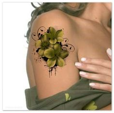 Temporary Tattoo Shoulder Flower Ultra Thin Realistic Fake Tattoos You will receive 1 flower tattoo and full instructions. Dimension: 4.5 H x 3.5W The tattoos will last 1 week, very, very durable. Please read the full application instructions before applying the tattoo. You can