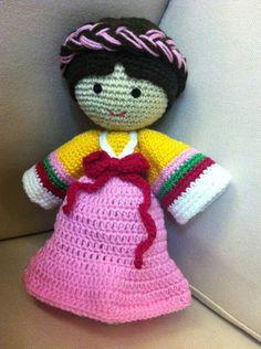Crochet doll *Korean lady in HK*