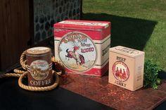 3 Piece Western Advertising Tins Set