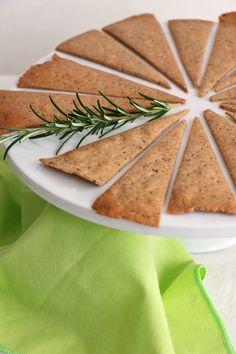 Buckwheat and Rosemary Crackers - Nirvana Cakery