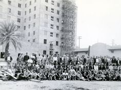 Historic Phoenix Districts Real Estate - Phoenix, AZ, United States. A photo of the plasterers who were building the Westward Ho in Phoenix in 1927. #Phoenix #Historic #RealEstate #HistoricRealEstate #HistoricDistricts #HistoricCentralPhoenix #HistoricPhoenixDistricts #DowntownPhoenix #CentralPhoenix