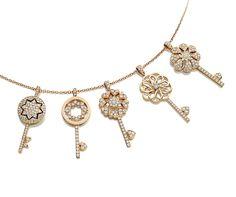 "Pendants, ""Zellij"" Collection - Pink gold, diamonds"