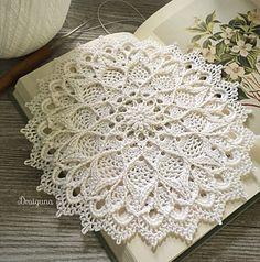 Crochet Patterns Ravelry Ravelry: Leylight pattern by Julia Hart Motif Mandala Crochet, Free Crochet Doily Patterns, Crochet Motifs, Thread Crochet, Ravelry Crochet, Crochet Rugs, Crochet Granny, Knitting Patterns, Double Crochet Decrease