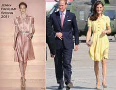 Catherine, Duchess of Cambridge In Jenny Packham – Calgary Airport