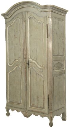 French 19th C Painted Armoire Bordeaux | Fireside Antiques
