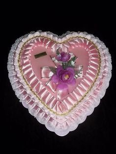 vintage valentine heart candy boxes - Google Search