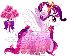 Rose Princess Alicorn Adoptable (CLOSED) by KingPhantasya