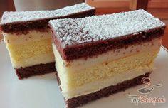 Ünnepi szelet   TopReceptek.hu My Bar, Confectionery, Dessert Bars, Cookie Bars, Tiramisu, Vanilla Cake, Nom Nom, Sweet Tooth, Cheesecake