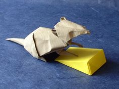 Origami Cheese by David Brill folded by Gilad Aharoni