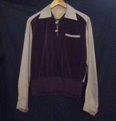 1950s 2 Tone Gaucho Shirt