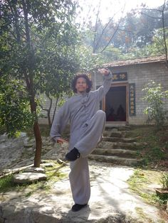 Dino from the U.S. As he shows an impressive stance. He studies at the Wudang Traditional Martial Arts School. http://wudangmartialarts.com/