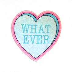 What Ever Insultation Heart Iron On Patch. $10.00, via Etsy.