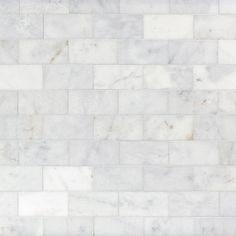 Ocean Honed Marble Tile - 3 x 6 - 100246016 - Flooring Decor Marble Tile Backsplash, Marble Tile Bathroom, Honed Marble, Kitchen Backsplash, Kitchen Cabinets, Marble Mosaic, Kitchen Island, Bathtub Tile, Shower Tiles