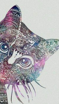 cat, wallpaper, and art image Mandalas Painting, Mandalas Drawing, Mandala Art, Sunset Wallpaper, Cat Wallpaper, Star Tattoos, Body Art Tattoos, Background Pictures, Love And Light
