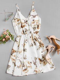 Shop Floral Print Random Surplice Cami Dress online. SheIn offers Floral Print Random Surplice Cami Dress & more to fit your fashionable needs.