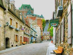 Québec City's cobblestone streets make for a perfect walking tour. Image by Nino H. Photography / Moment / Getty