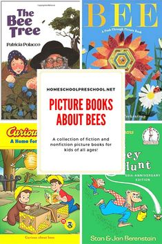 Spring has sprung! Celebrate spring with a basket full of picture books about bees! Here are 15 of our favorites to get you started. Kids Activity Books, Preschool Books, Preschool Printables, Toddler Preschool, Preschool Activities, Insect Activities, Play Based Learning, Learning Through Play, Kids Learning