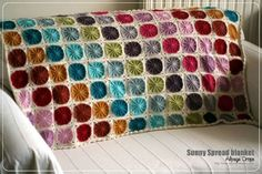 Another beautiful Sunny Spread blanket made with Drops Alpaca.