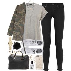 Outfit for autumn by ferned on Polyvore featuring River Island, Yves Saint…
