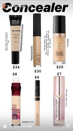 Best Drugstore Makeup, Drugstore Makeup Dupes, Makeup Cosmetics, Best Makeup Products, Contour Makeup Products, Best Drugstore Concealer, Oily Skin Makeup, Beauty Products, Make Up Kits