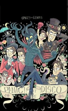 At The Disco, Death of a Bachelor album, P!ATD fanart - Travel tips - Travel tour - travel ideas Brendon Urie, Emo Bands, Emo Band Memes, Music Bands, Fanart, Silly Love Songs, Death Of A Bachelor, The Wombats, Band Wallpapers