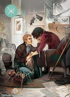 Oh gosh, this picture is SO sad :(( I'm nearly crying right now. Whoever made this is evil!!! Just look at how far gone Sherlock is, and how John's trying to help him.---Oh no